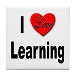I Love Learning Tile Coaster