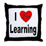I Love Learning Throw Pillow