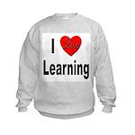 I Love Learning (Front) Kids Sweatshirt
