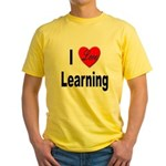 I Love Learning Yellow T-Shirt
