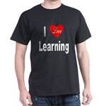 I Love Learning (Front) Black T-Shirt
