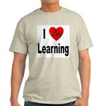 I Love Learning (Front) Ash Grey T-Shirt