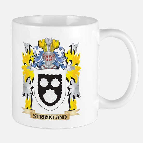 Strickland Family Crest - Coat of Arms Mugs