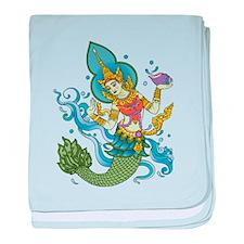 Hindu Mermaid baby blanket