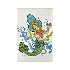 Hindu Mermaid Rectangle Magnet