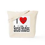I Love Social Studies Tote Bag