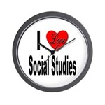 I Love Social Studies Wall Clock