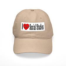 I Love Social Studies Baseball Cap