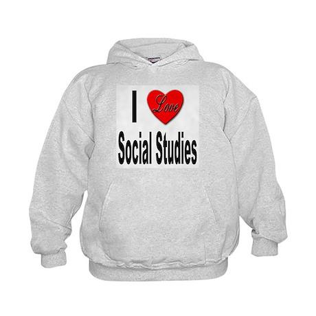 I Love Social Studies Kids Hoodie