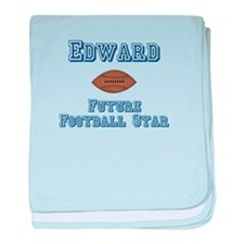 Edward - Future Football Star baby blanket