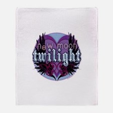 Twilight Winged Heart Crest Throw Blanket