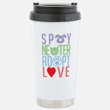 Spay Neuter Adopt Love 2 Stainless Steel Travel Mu