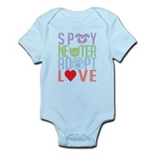 Spay Neuter Adopt Love 2 Infant Bodysuit