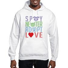 Spay Neuter Adopt Love 2 Hoodie