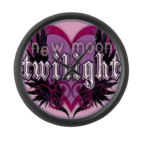 Twilight New Moon Winged Hear Large Wall Clock