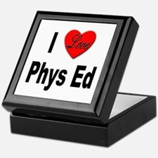 I Love Phys Ed Keepsake Box