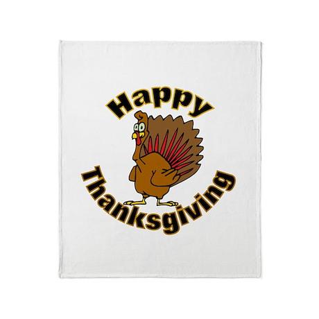 Thanksgiving Turkey Throw Blanket
