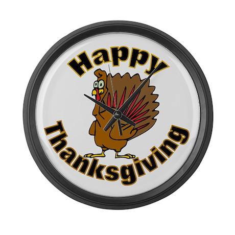 Thanksgiving Turkey Large Wall Clock