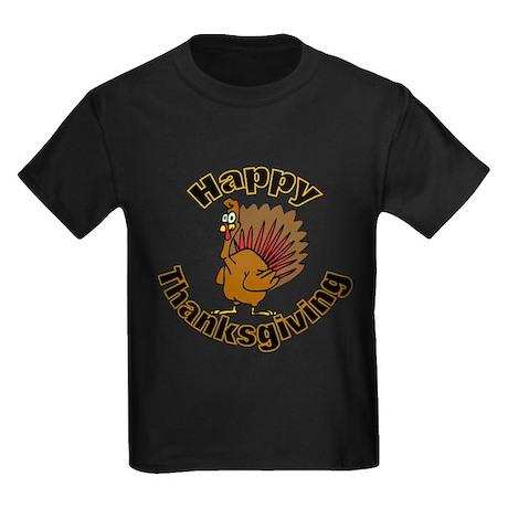 Thanksgiving Turkey Kids Dark T-Shirt