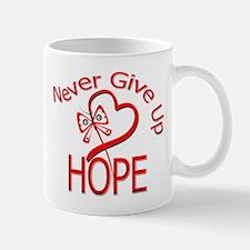 Heart Disease Never Give Up Mug