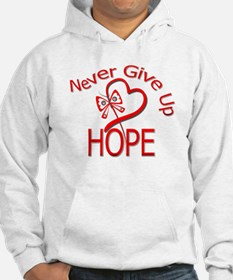 Heart Disease Never Give Up Hoodie