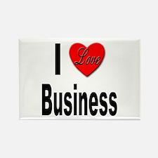 I Love Business Rectangle Magnet