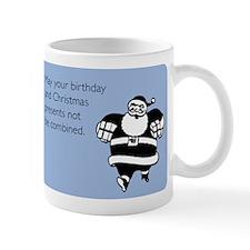 Christmas And Birthday Combined Small Mugs