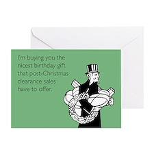Post Christmas B-Day Gift Greeting Card