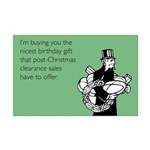 Post Christmas B-Day Gift Mini Poster Print