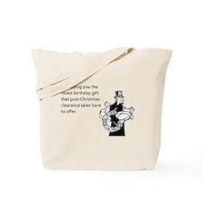 Post Christmas B-Day Gift Tote Bag