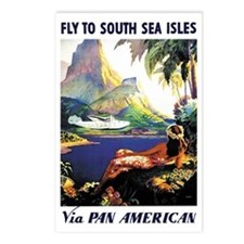 'Fly To South Sea Isles' Postcards (Package of 8)