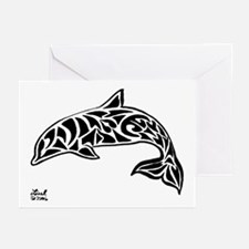 Tribal Dolphin Greeting Cards (Pk of 10)