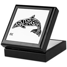 Tribal Dolphin Keepsake Box