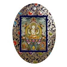 Chenrizig Thangka Ornament (Oval)