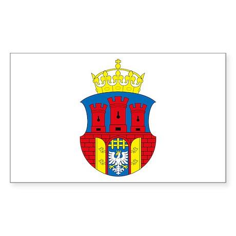 Krakow Coat of Arms Rectangle Sticker
