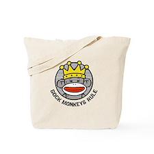 Sock Monkeys Rule Tote Bag