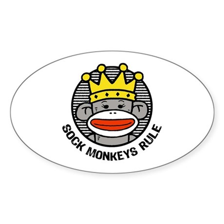 Sock Monkeys Rule Sticker (Oval)