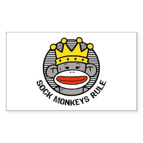 Sock Monkeys Rule Sticker (Rectangle)