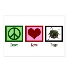 Peace Love Bugs Postcards (Package of 8)
