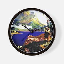 'Fly To South Sea Isles' Wall Clock