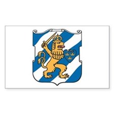 Gothenburg Coat of Arms Rectangle Decal