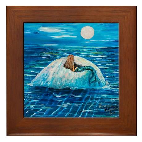 Mermaid Floating Framed Tile