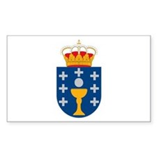 Galicia Coat of Arms Rectangle Decal