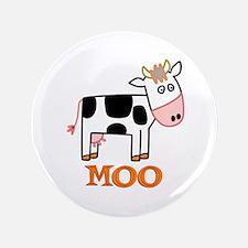 """Cow 3.5"""" Button"""