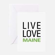 Live Love Maine Greeting Card