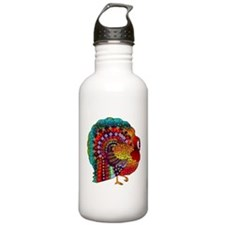 Thanksgiving Jeweled Turkey Water Bottle