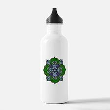 Green Hanukkah Mandela Water Bottle