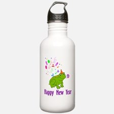 New Years Frog Water Bottle
