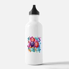 Birthday Balloons Water Bottle