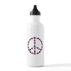 4th Of July Peace Stars Water Bottle